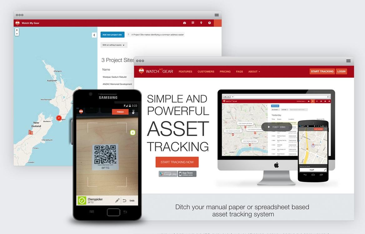 WatchMyGear website and mobile app